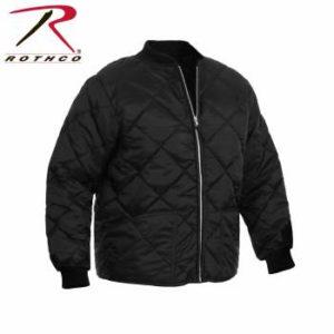 Rothco Diamond Nylon Quilted Flight Jacket - 7230-B - Black