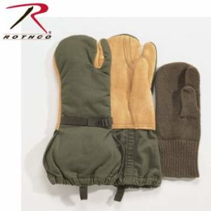 Rothco G.I. Leather Trigger Finger Mittens - 4394-HR11