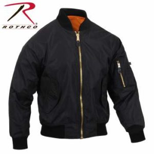 Rothco Lightweight MA-1 Flight Jacket - 6320-B - Black