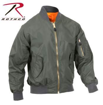 Rothco Lightweight MA-1 Flight Jacket - 6325-B1 - Green