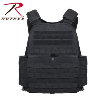 Rothco MOLLE Plate Carrier Vest - 8922-B - Black