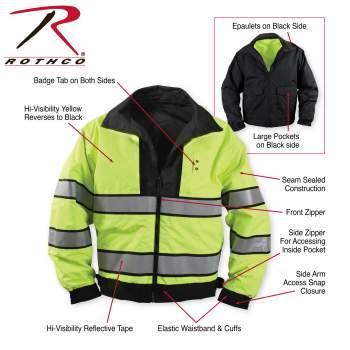 Rothco Reversible Hi-visibility Uniform Jacket - 8720-Z