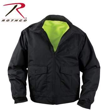Rothco Reversible Hi-visibility Uniform Jacket - 8720_black_side_inset_flat-hr