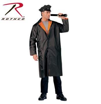 Rothco Reversible Reflective Rain Parka - 3889-A - Black-Orange