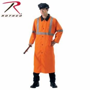 Rothco Reversible Reflective Rain Parka - 3889-B - Black-Orange