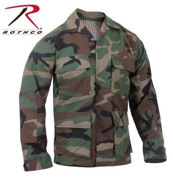 Rothco Rip-Stop BDU Shirt - Woodland - 5944-B