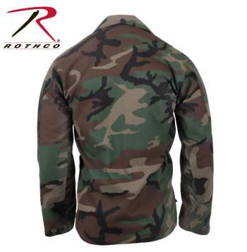 Rothco Rip-Stop BDU Shirt - Woodland - 5944-D