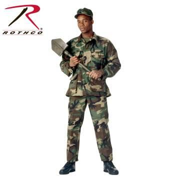 Rothco Rip-Stop BDU Shirt - Woodland - 5951-A