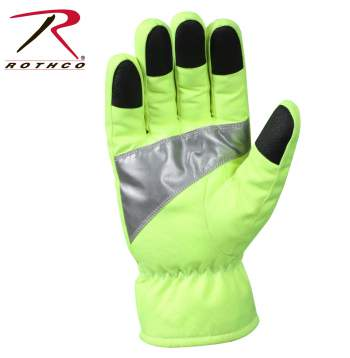 Rothco Safety Green Gloves With Reflective Tape - 5487_A-HR1