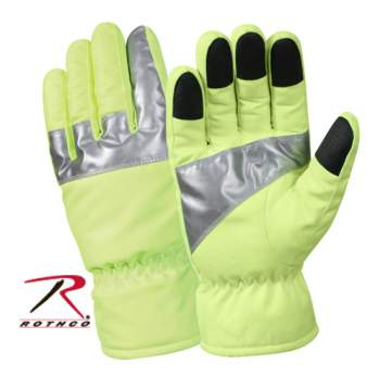 Rothco Safety Green Gloves With Reflective Tape - 5487_Big