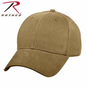 Rothco Supreme Solid Color Low Profile Cap - 8177-A - Coyote Brown