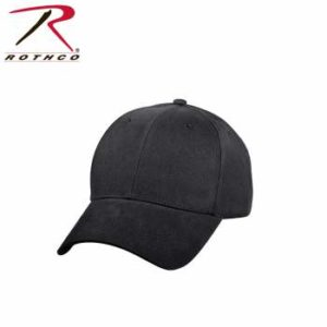 Rothco Supreme Solid Color Low Profile Cap - 8283-hr1 - Black