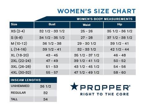 Propper Women S Size Chart Uniform Tactical Supply