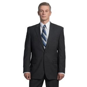 Executive Apparel Men's OptiWeave Blazer - 4026 - Charcoal