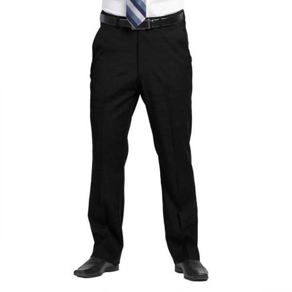 Executive Apparel Men's Optiweave Tailored Front Pants - 4226 - Black