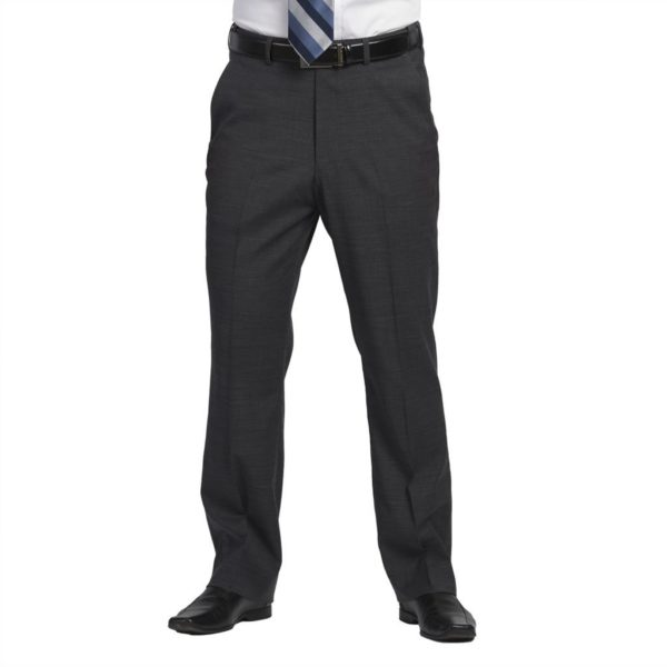 Executive Apparel Men's Optiweave Tailored Front Pants - 4226 - Charcoal