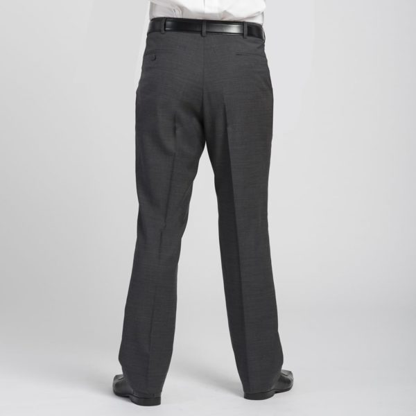 Executive Apparel Men's Optiweave Tailored Front Pants - 4226 - Charcoal-Back