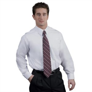 Executive Apparel Men's Shirt Tailored Plain Collar Pinpoint Oxford Long Sleeve - 1500