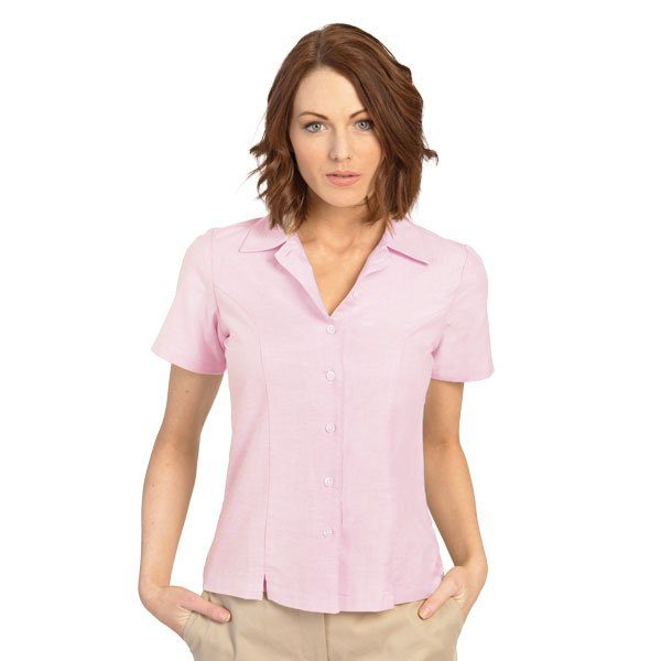 executive-apparel-womens-blouse-oxford-short-sleeve-2426-pink