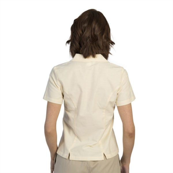 executive-apparel-womens-blouse-oxford-short-sleeve-2426-yellow-back