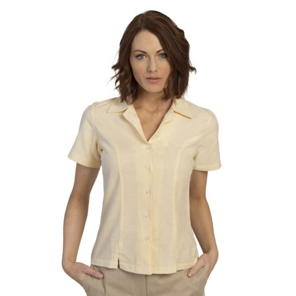 executive-apparel-womens-blouse-oxford-short-sleeve-2426-yellow-front
