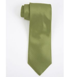 Executive Apparel Mens Solid Polyester Dobby Tie -1670 - Lime