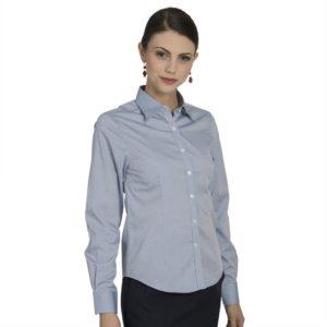 Executive Apparel Womens Pocketless Pinpoint Oxford Shirt - 2500 - Blue