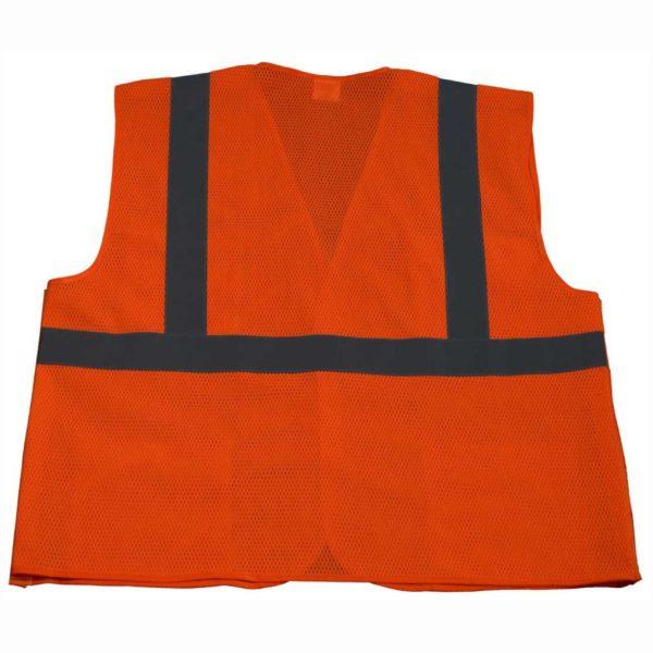Petra Roc 5 Point Breakaway ANSI Class 2 Orange Safety Vest - OVM2-5PB - Orange-Back