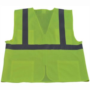 Petra Roc ANSI Class 2 4-Pocket Safety Vest LV2-FSMB - Lime-Back