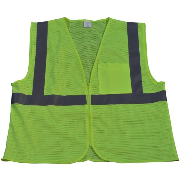 Petra Roc - ANSI ISEA Class 2 Safety Vest - LVM2-CB0 - Lime Mesh