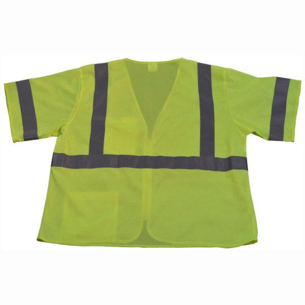 Petra Roc Lime Mesh ANSI Class 3 Safety Vest LVM3-Z-Back