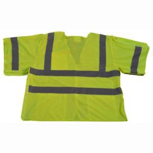 Petra Roc - Short Sleeve Safety Vest Shirt - Lime - LVM3-5PB - Back