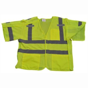 Petra Roc - Short Sleeve Safety Vest Shirt - Lime - LVM3-5PB - Front