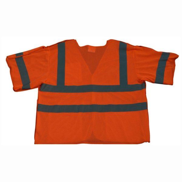 Petra Roc - Short Sleeve Safety Vest Shirt - Orange - OVM3 - Back